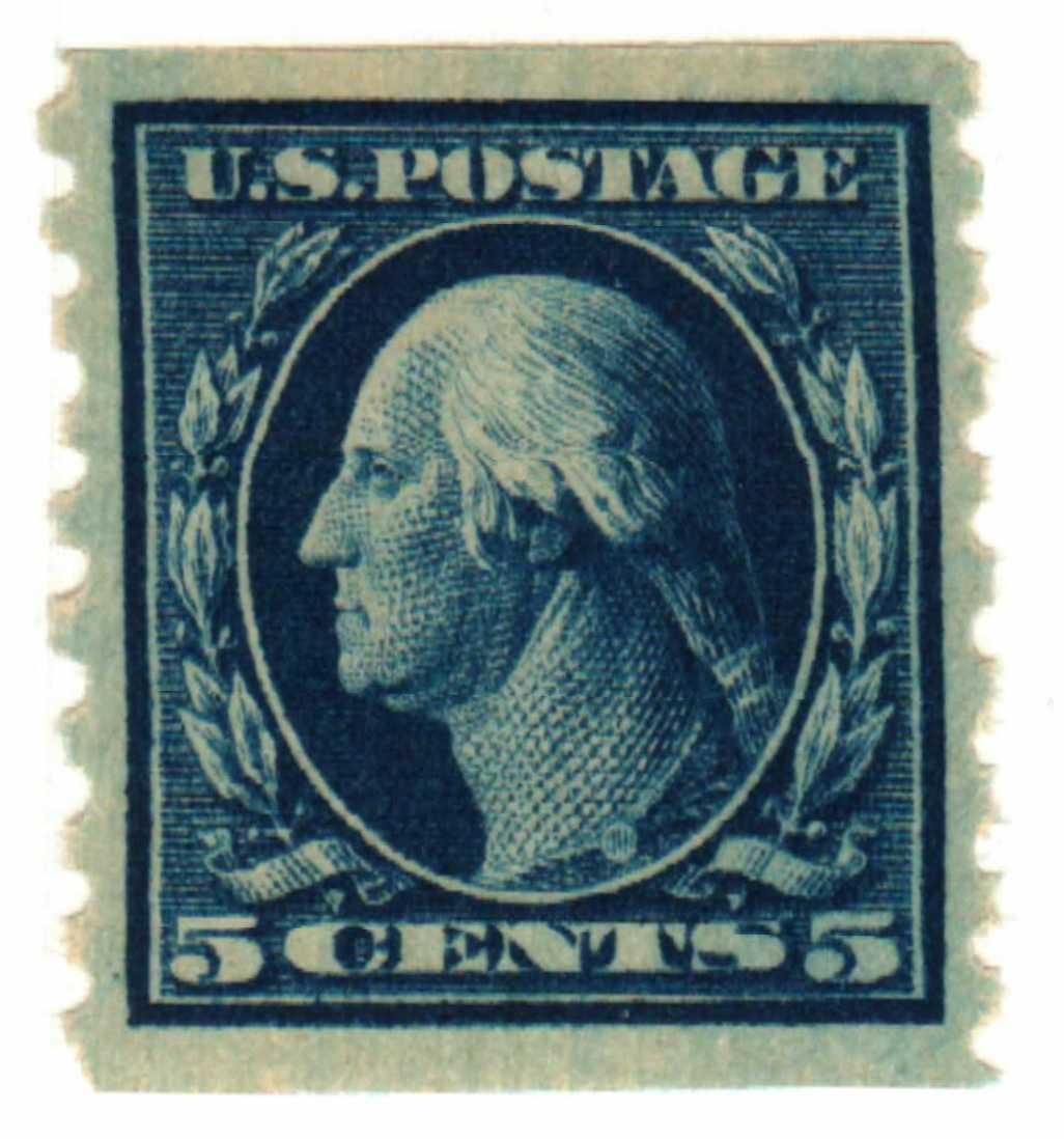 1913 5c Washington, blue