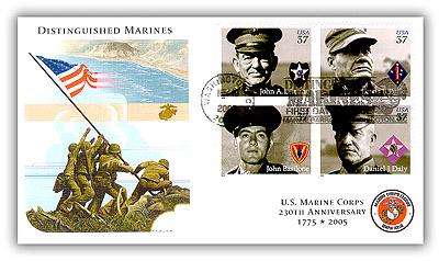 2005 37c Distinguished Marines, 4 stamps
