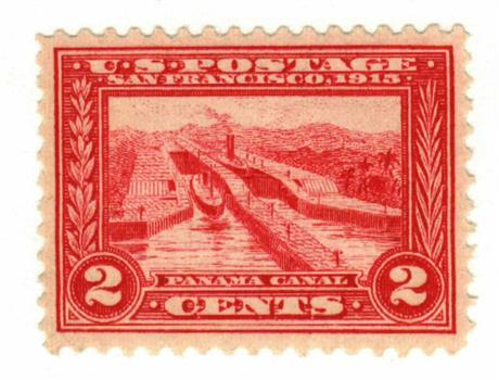 1913 2c Panama-Pacific Exposition: Panama Canal, carmine, perf 12