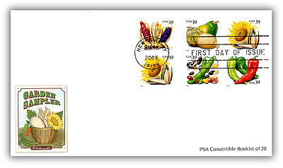 2006 39c Crops of America, convertible booklet