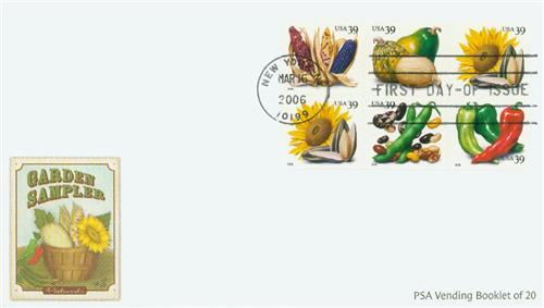 2006 39c Crops of America, vending booklet