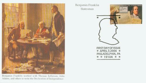 2006 39c Benjamin Franklin: Statesman