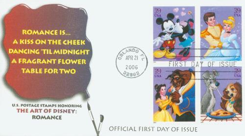 2006 39c The Art of Disney, Romance