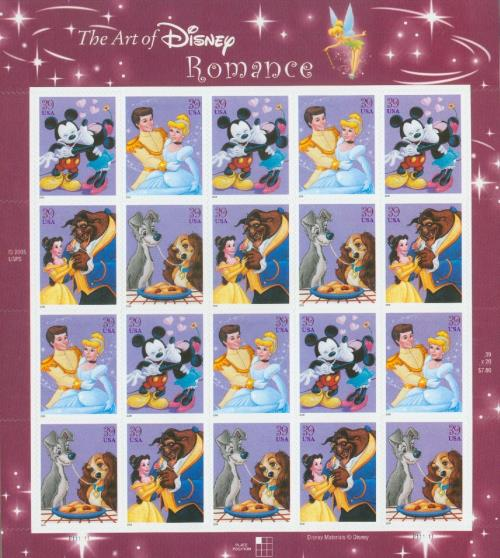 2006 The Art of Disney: Romance sheet