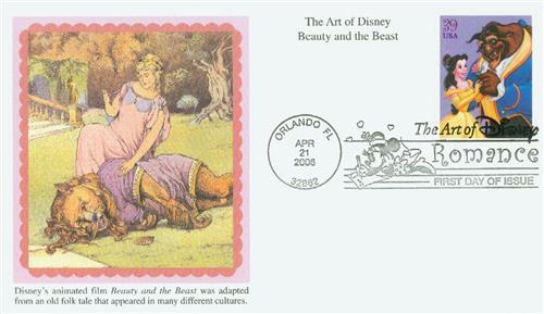 2006 39c The Art of Disney Romance: Beauty and the Beast