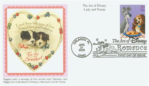 2006 39c The Art of Disney Romance: Lady and the Tramp