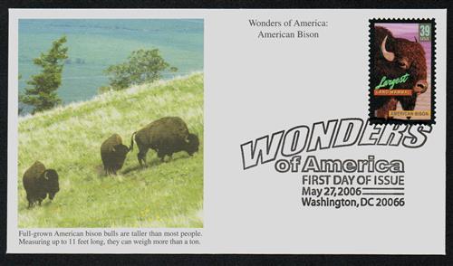 2006 39c American Bison, Lg Land Mammal