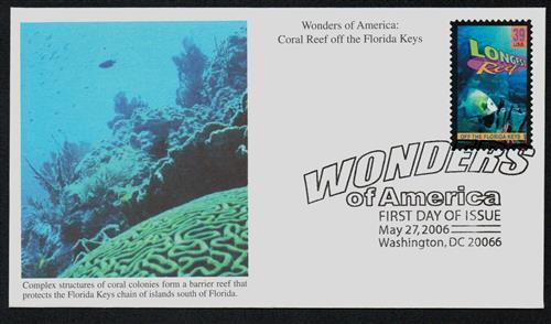 2006 39c FL Coral Reef, Longest Reef
