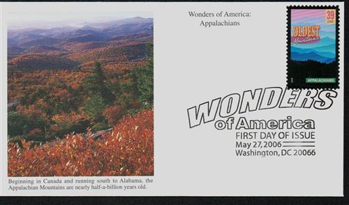 2006 39c Appalachians, Oldest Mountains