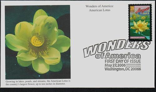 2006 39c American Lotus, Largest Flower