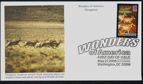 2006 39c Pronghorn, Fastest Land Animal