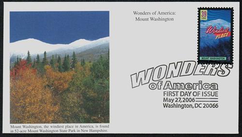2006 39c Mt. Washington, Windiest Place