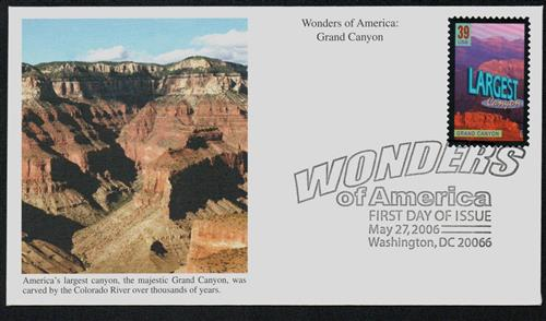 2006 39c Grand Canyon, Largest Canyon