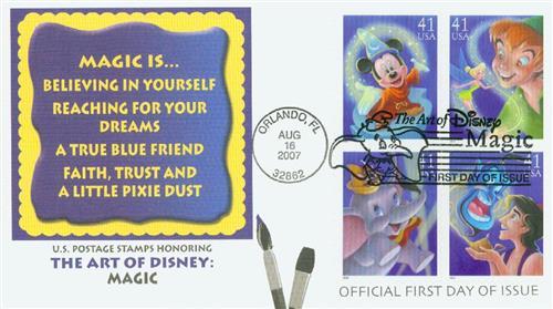 2007 41c The Art of Disney, Magic