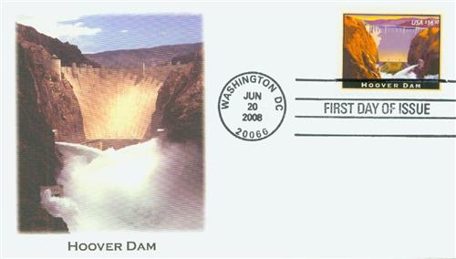 U.S. #4269 FDC – 2008 Hoover Dam FDC.