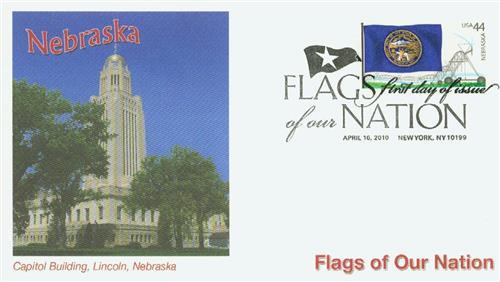 2010 44c Flags of Our Nation: Nebraska