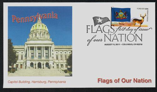 2011 First-Class Forever Stamp -  Flags of Our Nation: Pennsylvania