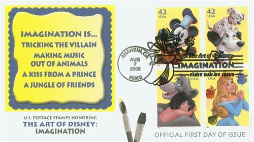 2008 42c The Art of Disney: Imagination