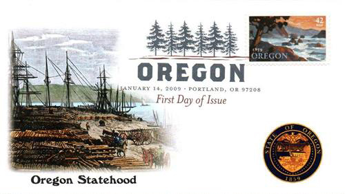 2009 42c Oregon Statehood