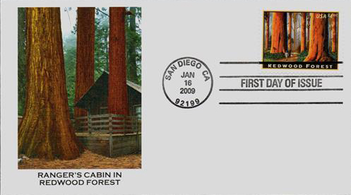2009 $4.95 Redwood Forest Priority Mail