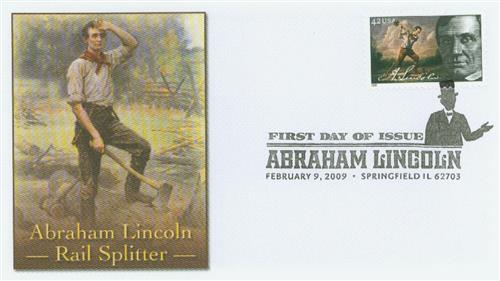 2009 42c Abraham Lincoln - Rail-splitter