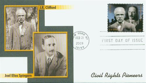 2009 42c Civil Rights-Clifford/Spingarn
