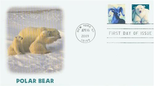 2009 28c Polar Bear; coil stamp