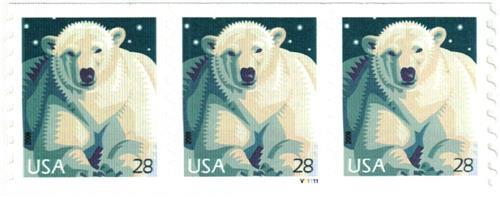 2009 28c Polar Bear, coil