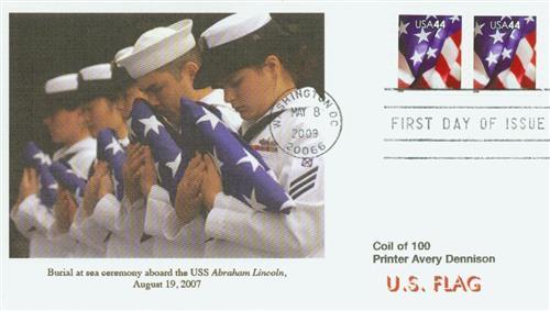 2009 44c Flag, Coil (AP) s/a 9 1/2 perf