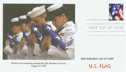 2009 44c Flag, Coil (AP) s/a 11 perf