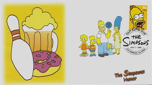 2009 44c Homer Simpson