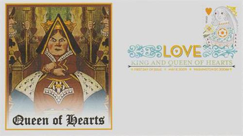 2009 44c Love - Queen of Hearts