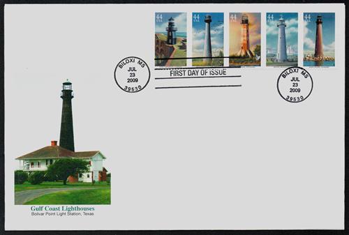 2009 44c Gulf Coast Lighthouses