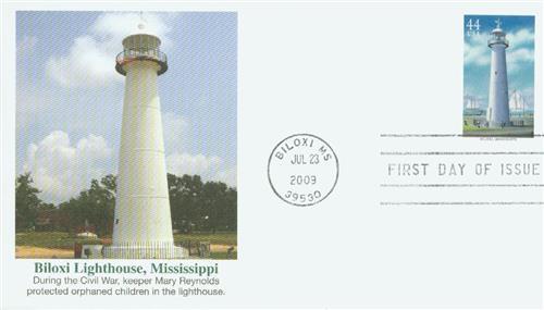 2009 44c Gulf Coast Lighthouses: Biloxi, Mississippi