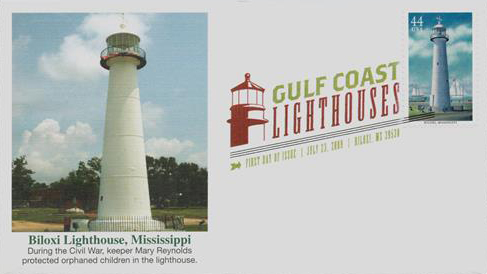 2009 44c Gulf Coast Lighthouses Biloxi Mississippi For Sale At Mystic Stamp Company