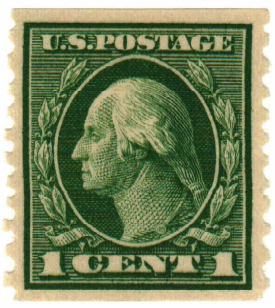 1914 1c Washington Green For Sale At Mystic Stamp Company
