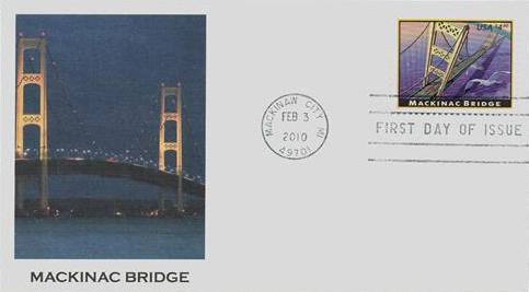 2010 $4.90 Mackinac Bridge, Priority Mail
