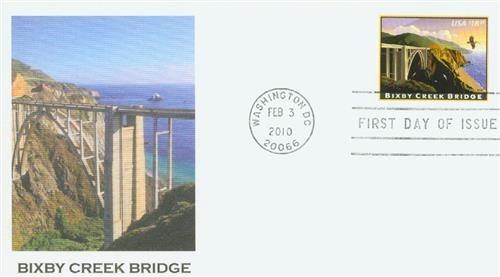 2010 $18.30 Bixby Creek Bridge, Express Mail