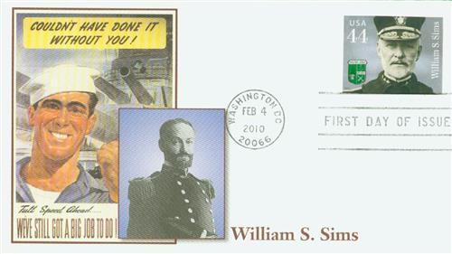2010 44c Distinguished Sailors: William S. Sims