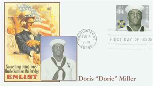2010 44c Distinguished Sailors: Doris Miller