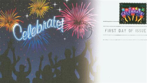 2011 First-Class Forever Stamp -  Celebrate!