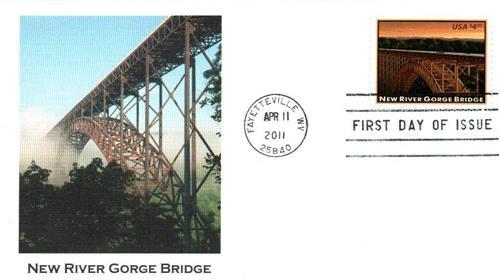 2011 $4.95 New River Gorge Bridge, Priority Mail
