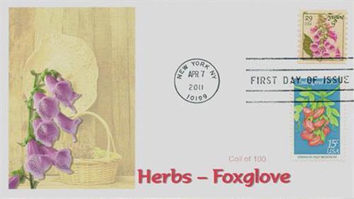 2011 29c Herbs: Foxglove, coil