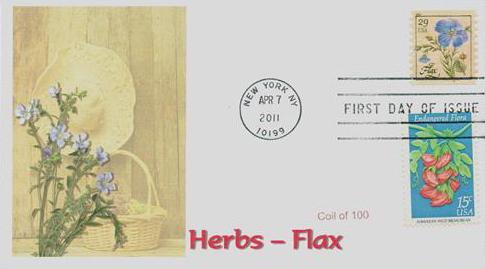 2011 29c Herbs: Flax, coil