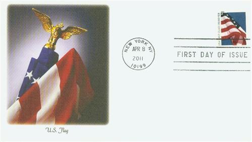 2011 First-Class Forever Stamp -  Flag Forever, ATM bklt