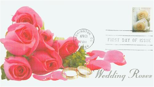 2011 First-Class Forever Stamp -  Wedding Roses