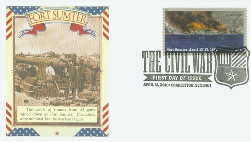 2011 First-Class Forever Stamp -  Civil War Sesquicentennial: Battle of Fort Sumter