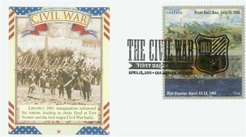 2011 First-Class Forever Stamp - The Civil War Sesquicentennial, 1861