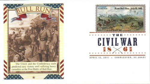 2011 First-Class Forever Stamp -  Civil War Sesquicentennial: 1st Battle of Bull Run
