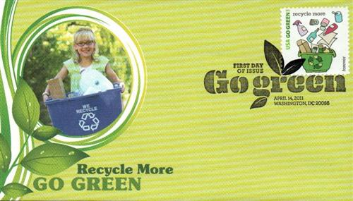 2011 First-Class Forever Stamp - Go Green: Recycle More